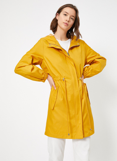 Koton Trençkot Sarı